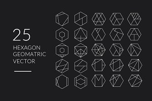 Hexagon Minimalist Geometric Vector