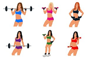fitness woman. exercising, sport