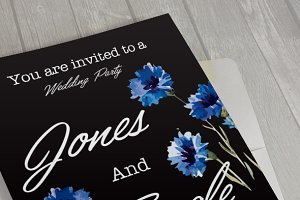 Floral Wedding Card I
