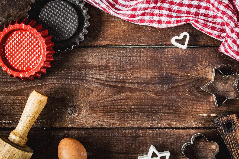 christmas baking background with - photo #19