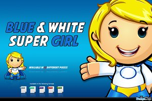 Blue And White Super Girl