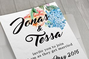 Floral Wedding Card II