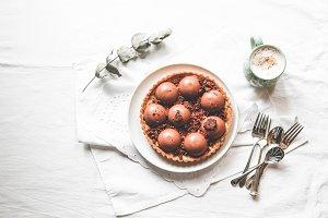 Chocolate Tart and Coffee
