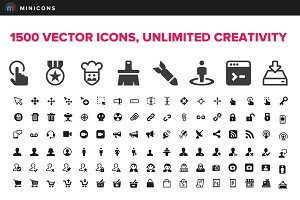 1500 Vector Icons - Minicons