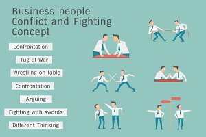 ฺBusiness conflict and fighting