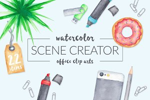 Watercolor Scene Creator