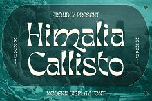 Himalia Callisto by  in Fonts
