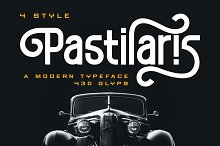 Pastilaris - a Modern Typeface by  in Fonts