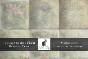 Vintage Shabby Floral Backgrounds