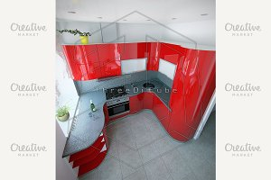 Curves Kitchen Modern Style