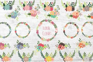 Floral Wreath & Bouquet Clipart