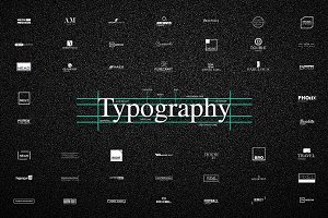 50 UNIQUE Typography Logos - 78% OFF