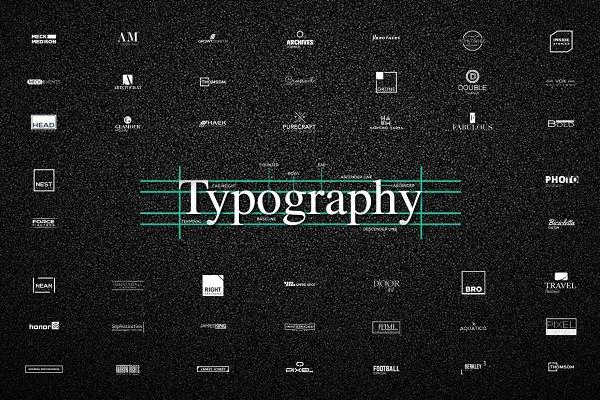 50 UNIQUE Typography Logos - 78% OF…