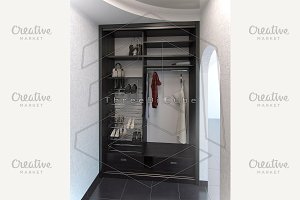 Hall interior design closet system