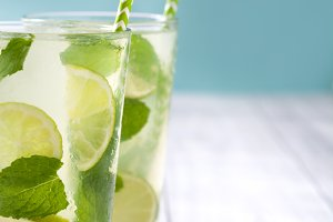 Summer drink. Fresh mojito