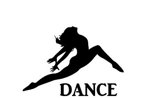 dance studio, emblem, vector