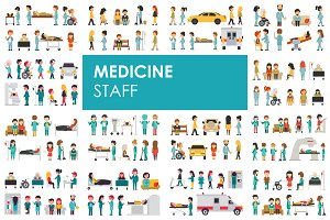 Medical Staff - flat people set