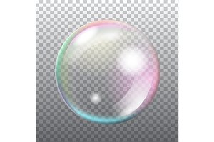 Abstract transparent soap bubble