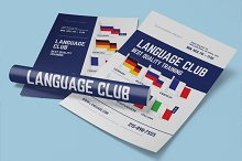 Language center poster template