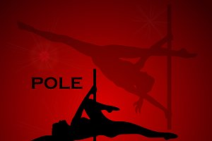 pole dance, dancing, woman