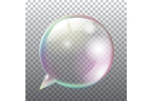 Transparent soap speech bubble