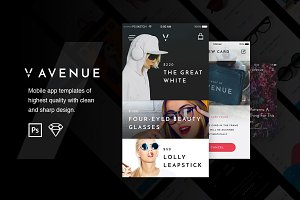 V Avenue Mobile UI Kit