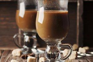 Hot american coffee