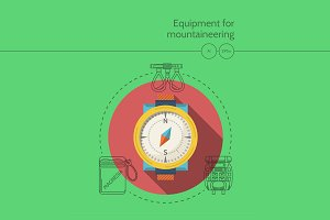 Mountaineering equipment. Compass