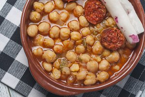 Chickpea stew with chorizo