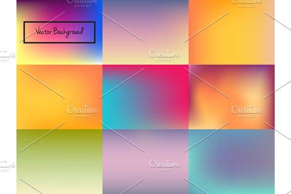 Set of vector blurred backgrounds