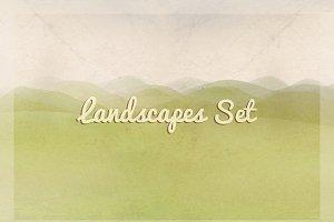 landscapes in vintage style