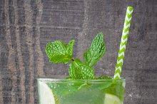 Summer drink. Fresh mojito