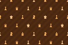 Beige chess icons on brown