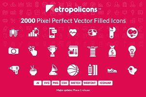 2000 Filled Icons Set Metropolicons