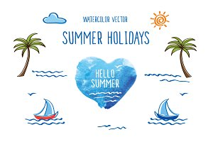 Summer holidays. Vector.