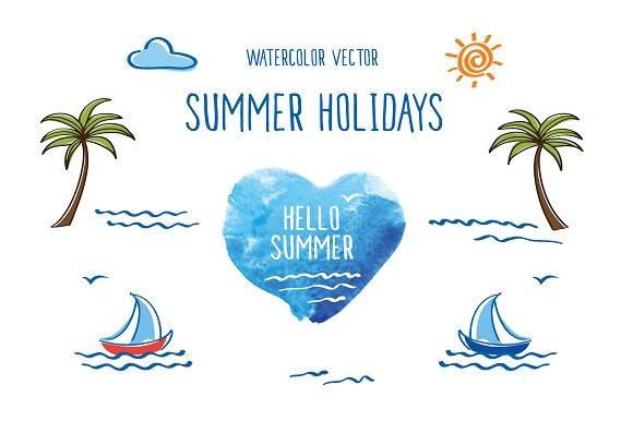 Summer holidays. Vector. - Illustrations