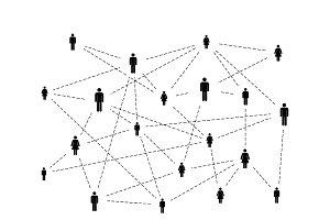 Social network simple illustration