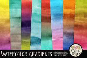 Watercolor Gradients Texture Pack