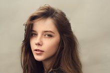 Portrait of wonderful girl
