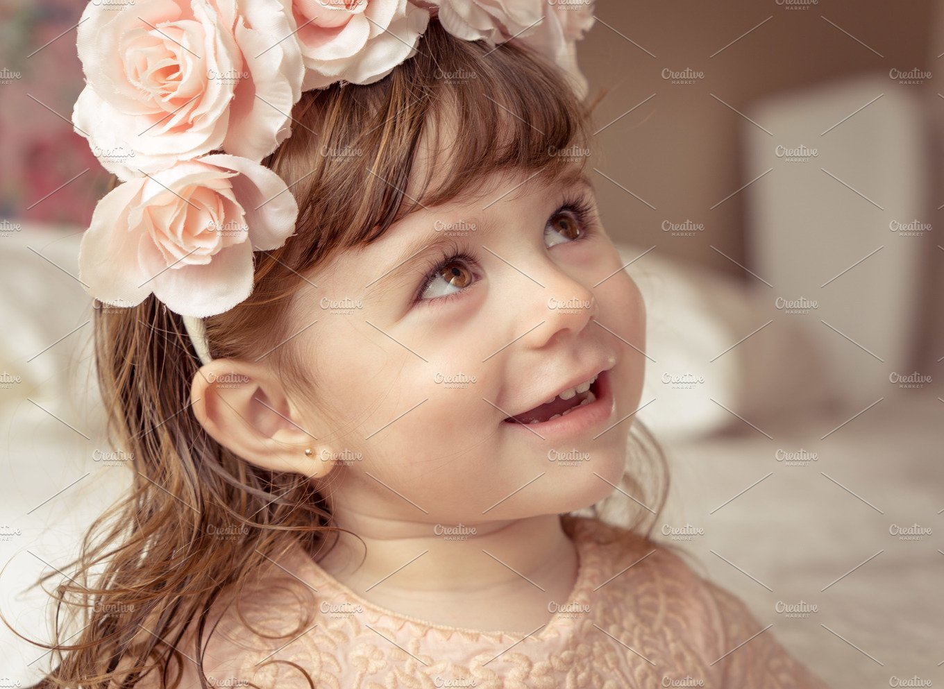 Boho little girl with flower crown beauty fashion photos boho little girl with flower crown beauty fashion photos creative market izmirmasajfo Gallery