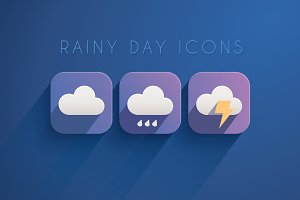 11 Rainy Day Icons