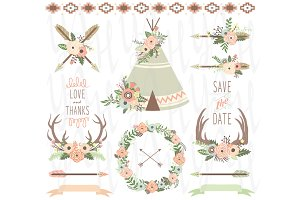 Wedding Floral Tribal Elements