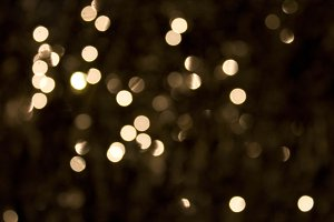 Bokeh in white