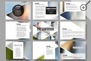 Vector templates for presentations