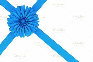 Flower and ribbon