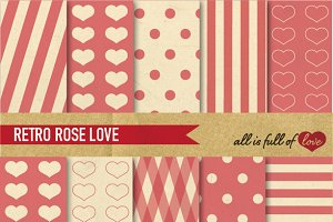 Rose Pink Background Vintage Papers