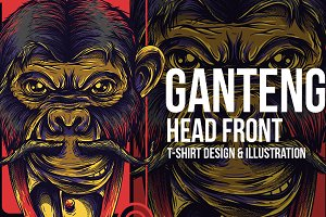 Ganteng Front Head Illustration