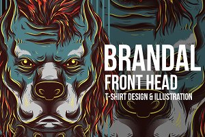 Brandal Front Head Illustration