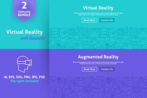 Virtual Reality Line Web Banners