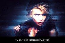 TV Glitch Photoshop Action